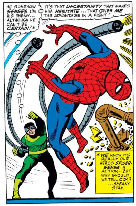 Image from Amazing Spider-Man #56: John Romita Sr. (pencils) and Mickey Demeo (inks)