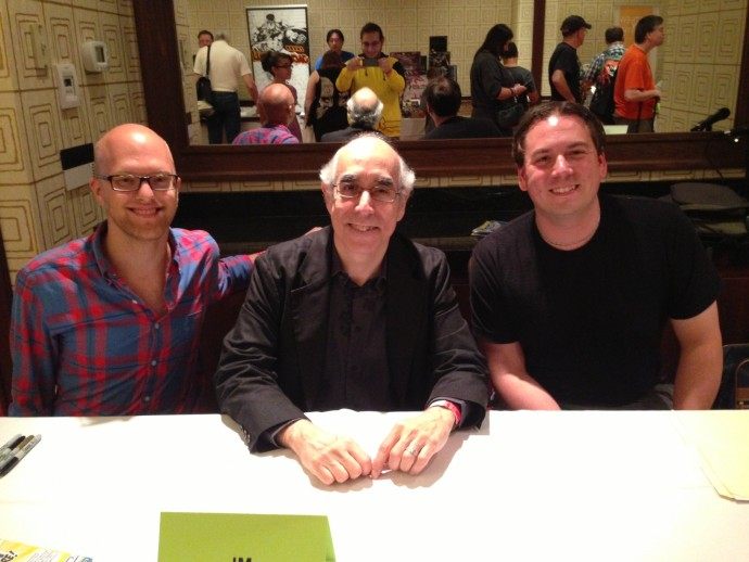 From l to r: Dan, J.M. DeMatteis and myself
