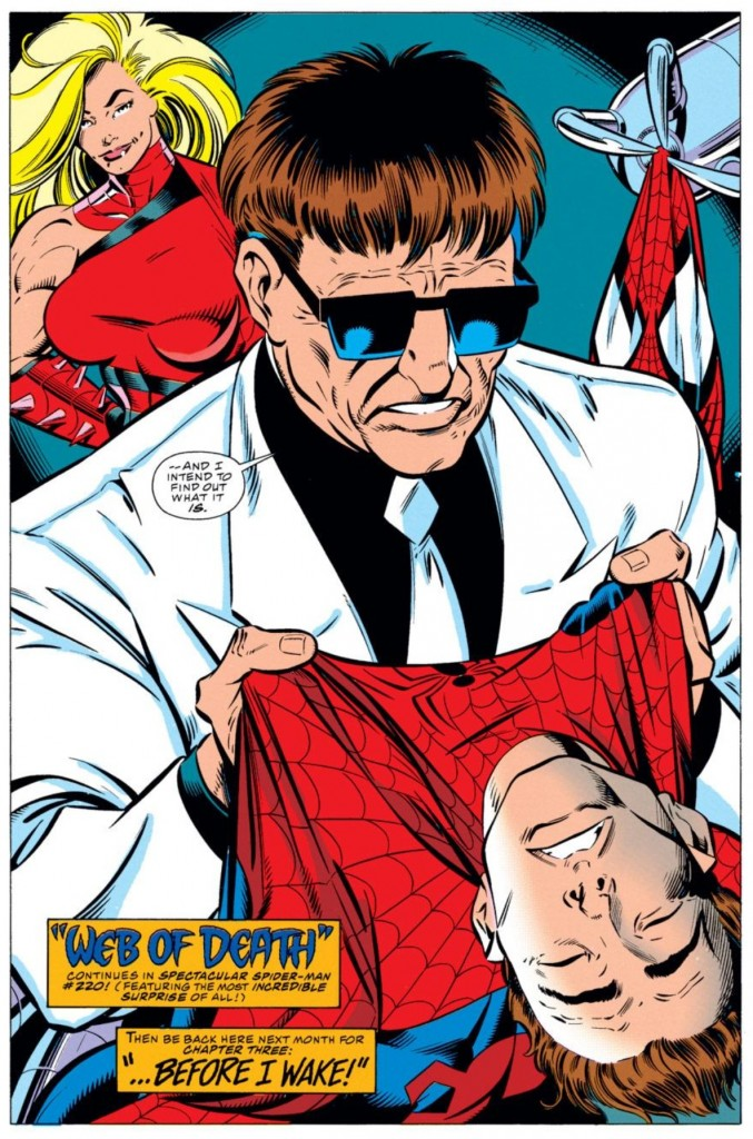 Image from Amazing Spider-Man #397: Mark Bagley (pencils) and Larry Mahlstedt (inks)