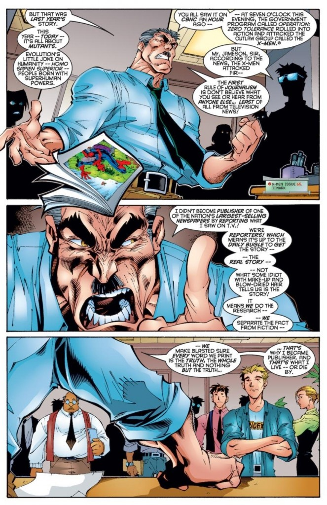 J. Jonah Jameson in Uncanny X-Men #321 (Joe Madureira, pencils; Rodney Ramos, inks)