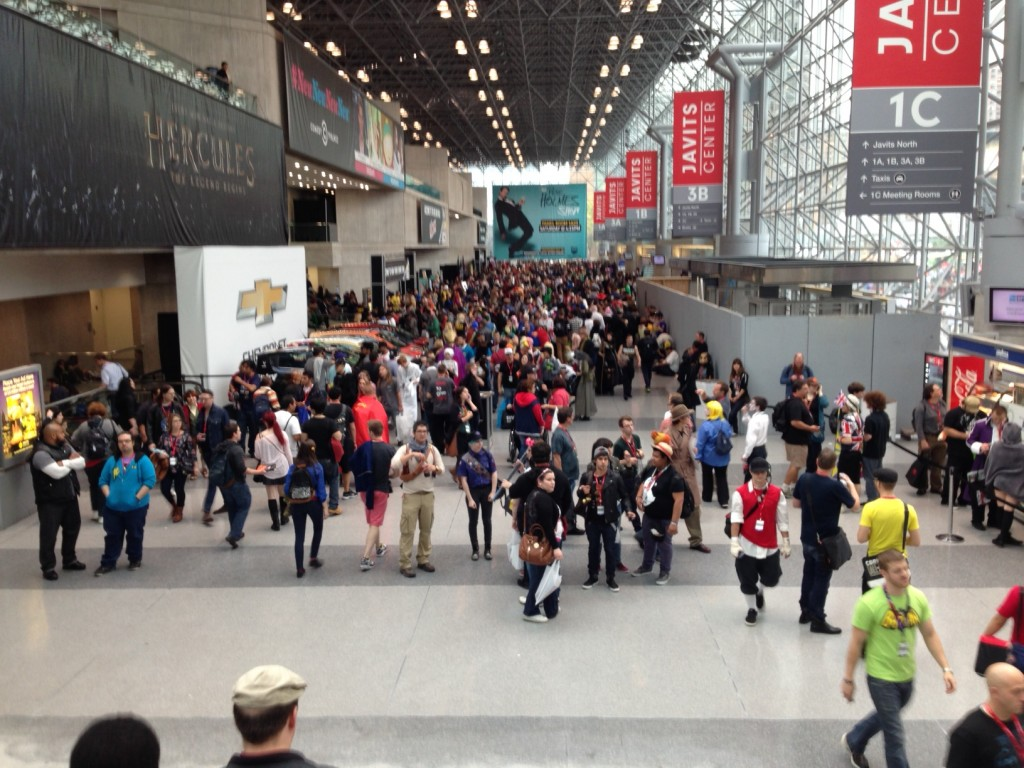 The crowds at NYCC are just killing me.