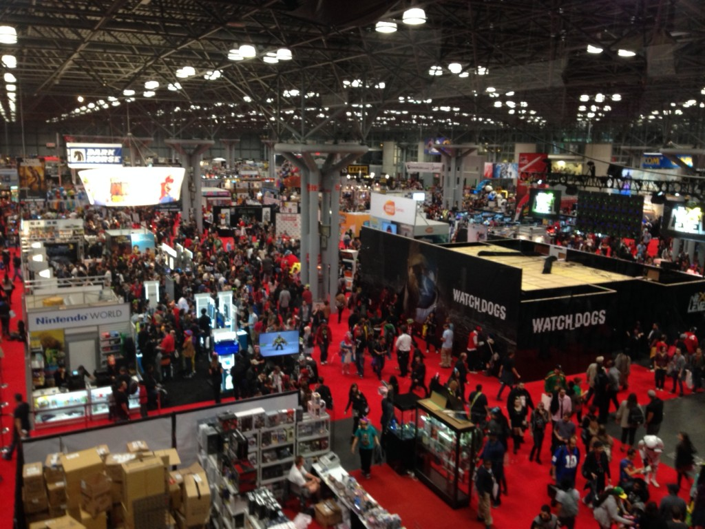 A view of the NYCC showroom floor.