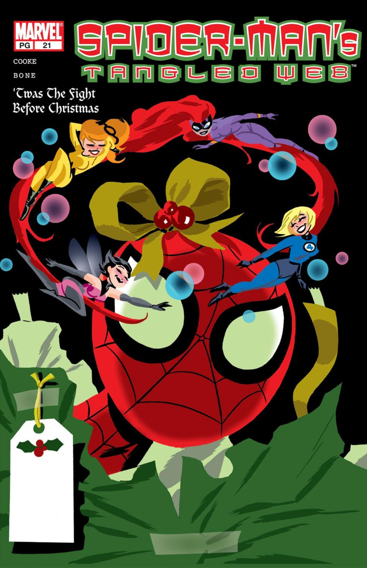 Spiderman Christmas.Spider Man Tangled Web 21 And A Holly Jolly Christmas Issue