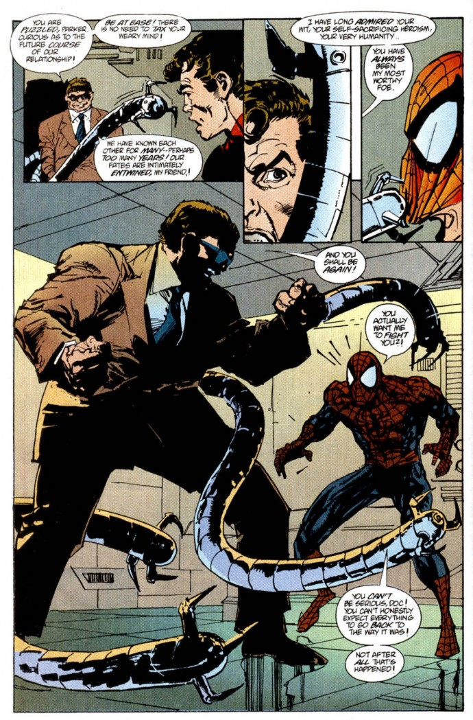Image from Spectacular Spider-Man #221: Tom DeFalco, Sal Buscema & Bill Sienkiewicz