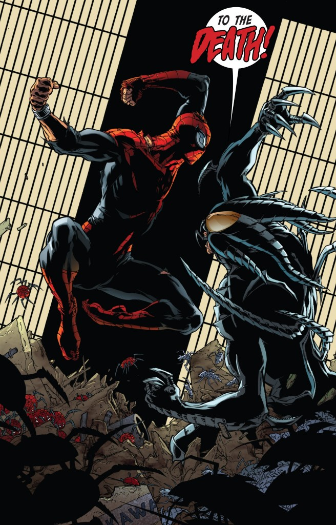 The Superior Spider-Man and Alistair Smythe in Superior Spider-Man #13