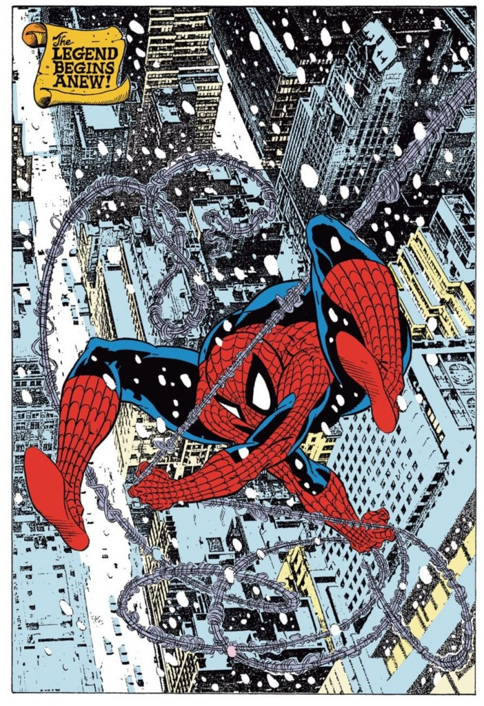The red and blues return in Amazing Spider-Man #300 (Todd McFarlane pencils/inks)