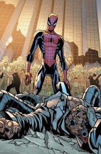 """The """"Superior"""" Spider-Man stands over Doc Ock in Amazing Spider-Man #700"""