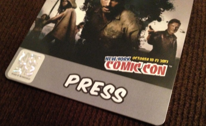 A press badge doesn't get you a heckuva lot at New York Comic Con, but it's great having one all the same.
