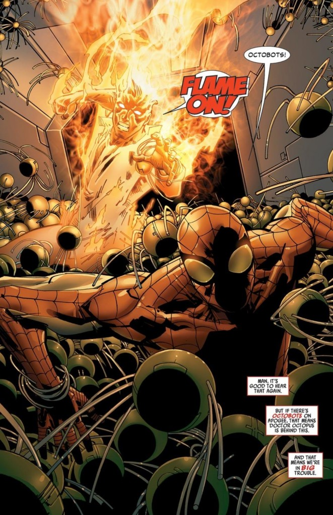 Spider-Man and Human Torch team-up in Amazing Spider-Man #680-681